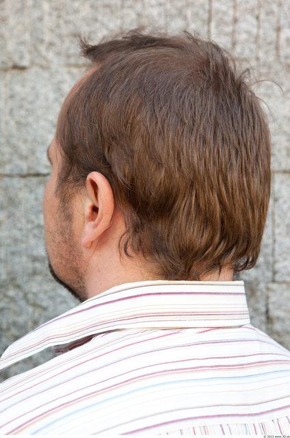 Head Man Casual Average Bearded Street photo references