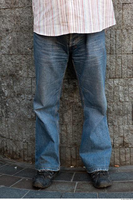 Leg Man Casual Jeans Average Street photo references