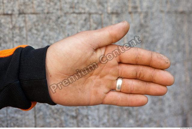Hand Man White Casual Sweatshirt Average
