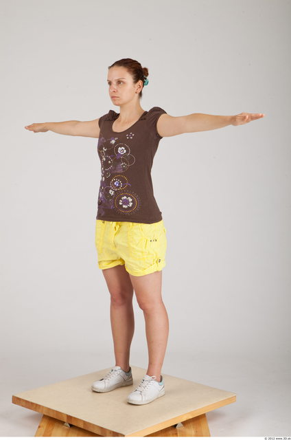 Whole Body Woman Animation references T poses Casual Average Studio photo references