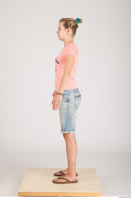 Whole Body Woman Animation references Casual Slim Studio photo references