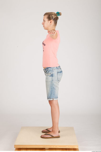 Whole Body Woman Animation references T poses Casual Slim Studio photo references