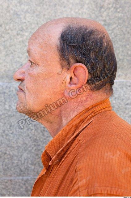 Head Man Casual Average Bald Street photo references