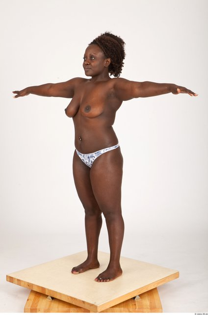 Whole Body Woman Black Casual Muscular