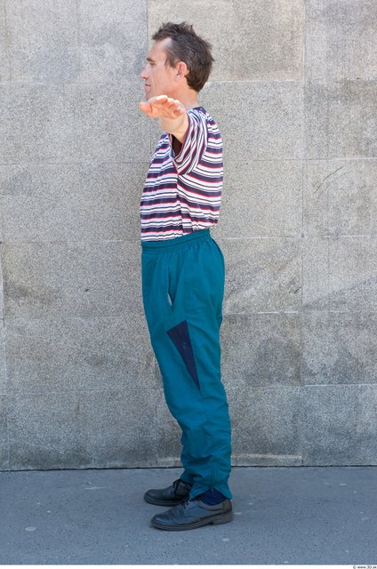 Head Man T poses Casual Average Street photo references