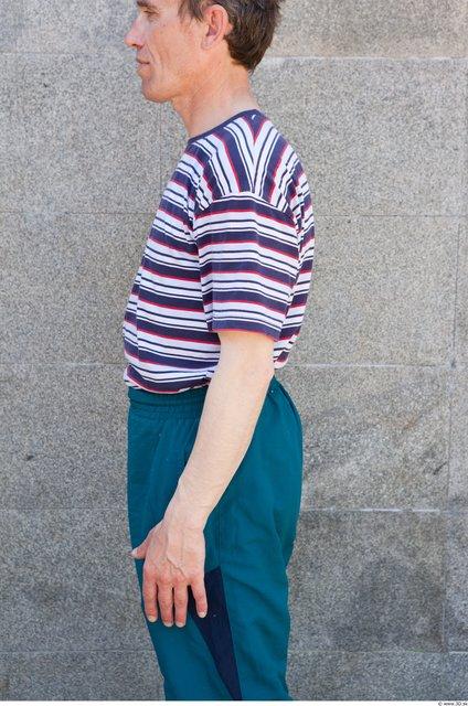 Arm Head Man Casual Shirt T shirt Average Street photo references