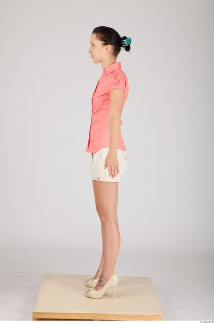 Whole Body Woman Animation references Casual Formal Slim Studio photo references