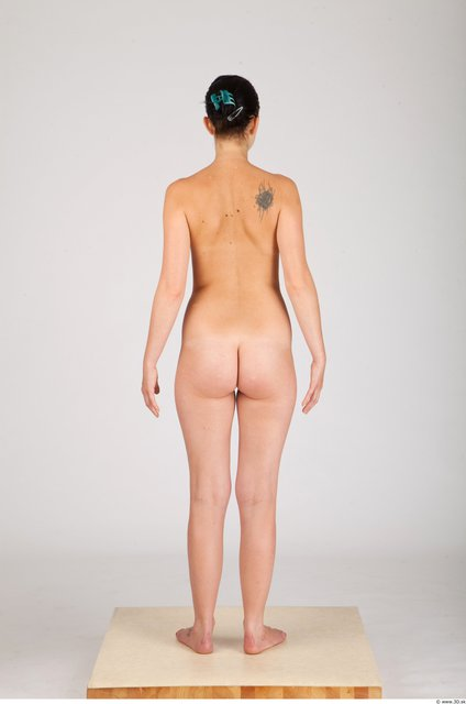 Whole Body Woman Animation references Nude Casual Slim Studio photo references
