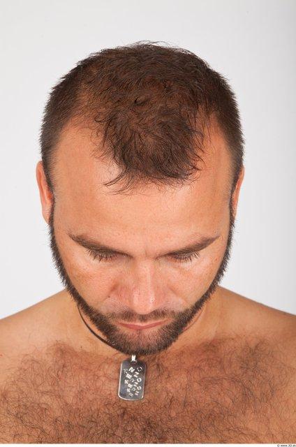 Whole Body Head Man Animation references Casual Average Bearded Studio photo references