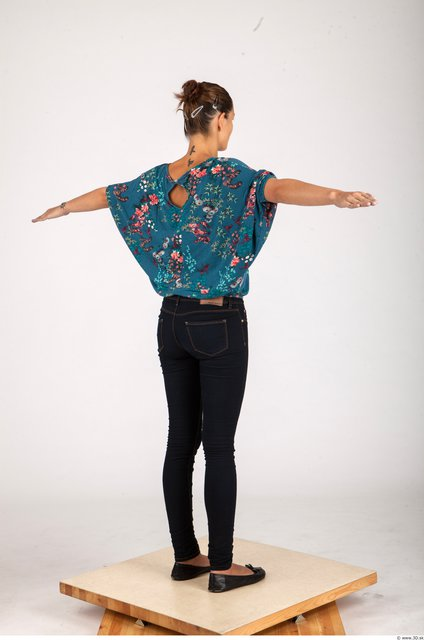 Whole Body Woman T poses Formal Slim Studio photo references