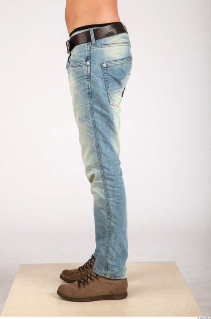Leg Whole Body Man Casual Jeans Athletic Studio photo references