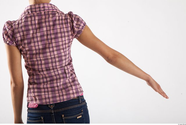 Arm Woman Animation references White Casual Shirt Slim