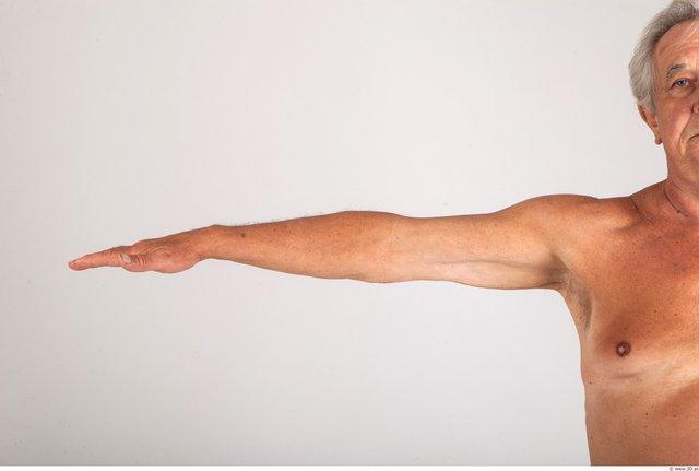 Arm Whole Body Man Nude Formal Average Studio photo references