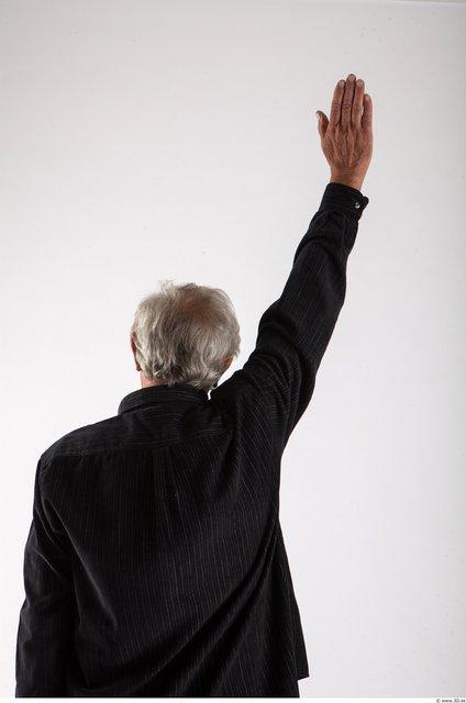Arm Man Animation references White Formal Shirt Average Wrinkles
