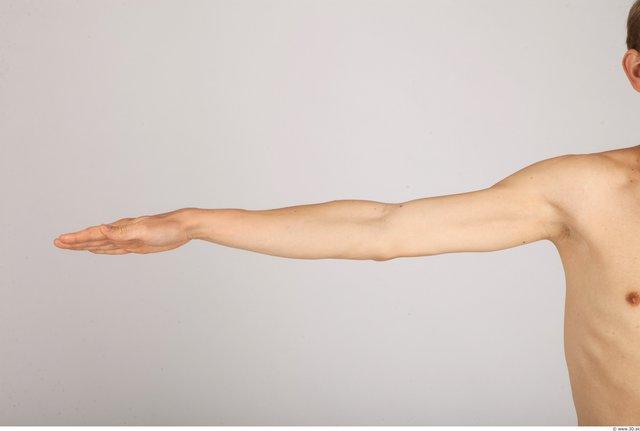 Arm Whole Body Man Casual Slim Studio photo references