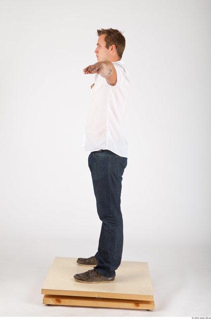 Whole Body Man T poses Casual Average Studio photo references