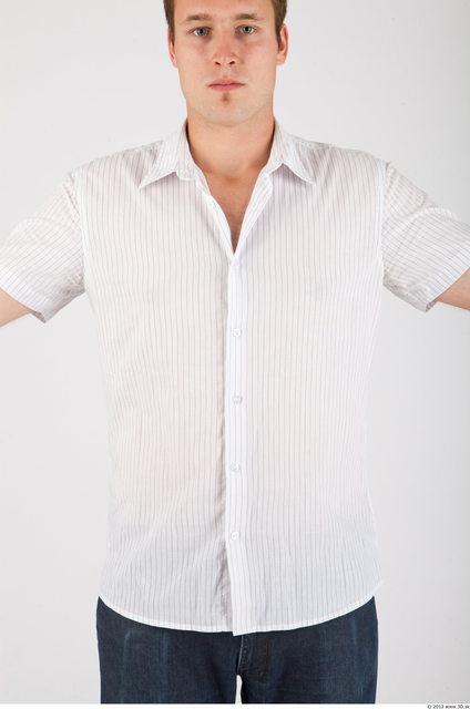 Upper Body Whole Body Man Casual Shirt Average Studio photo references