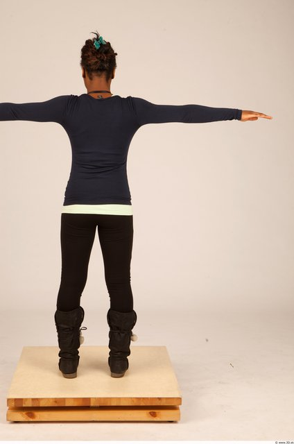 Whole Body Woman T poses Sports Average Studio photo references