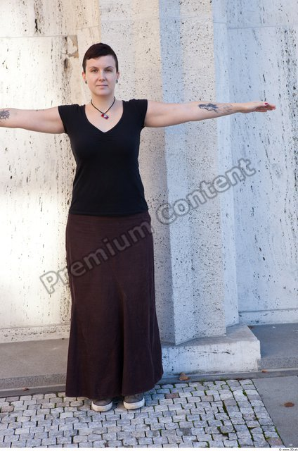Whole Body Woman T poses Casual Average Street photo references