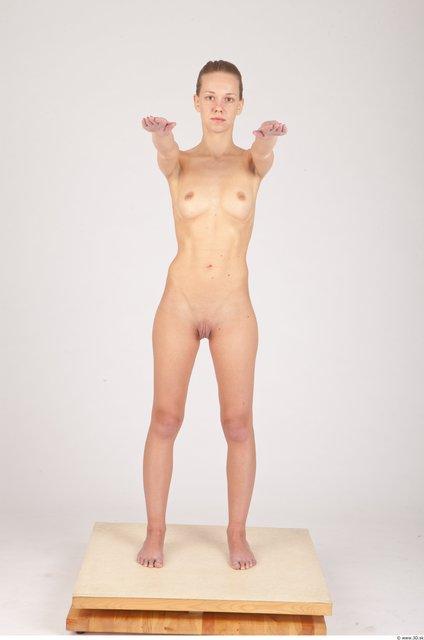 Whole Body Woman Animation references Nude Slim Studio photo references