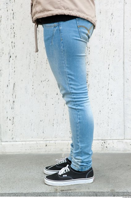 Leg Woman Casual Jeans Average Street photo references