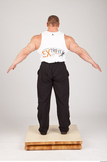 Whole Body Man Animation references White Sports Muscular