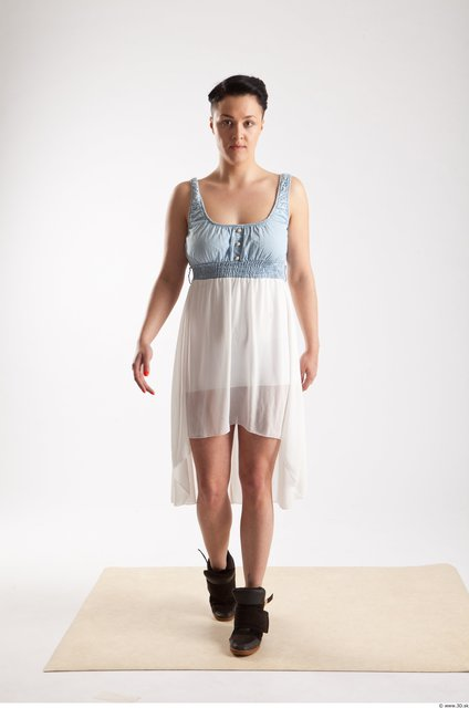 Whole Body Woman Animation references White Casual Dress Slim