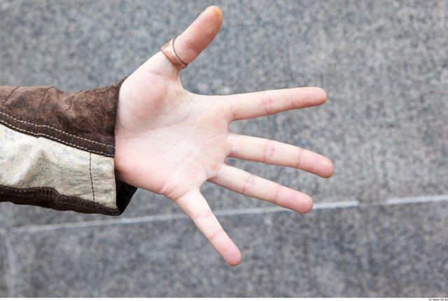 Hand Man White Casual Average