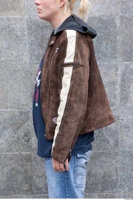 Arm Woman White Casual Jacket Average