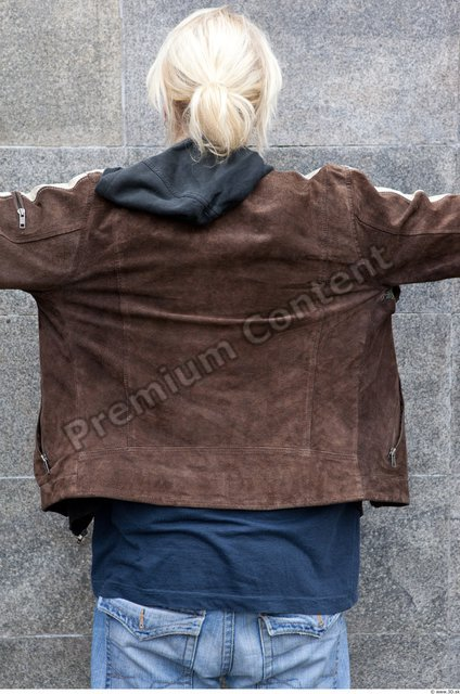 Upper Body Woman White Casual Jacket Average