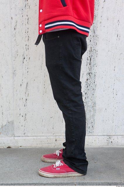 Leg Man White Casual Trousers Average