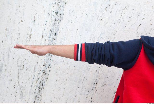 Arm Man White Casual Jacket Average