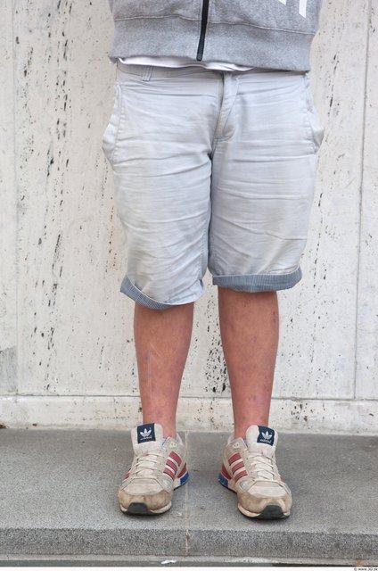 Leg Man White Casual Shorts Average