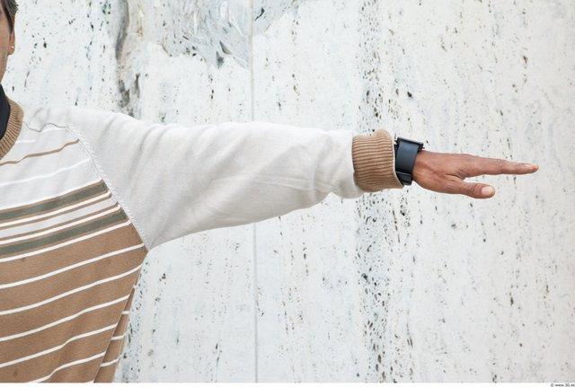 Arm Man White Casual Sweater Average
