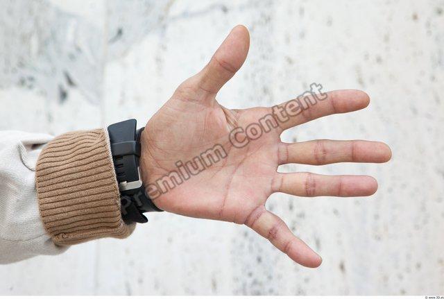 Man White Average Watch Palm