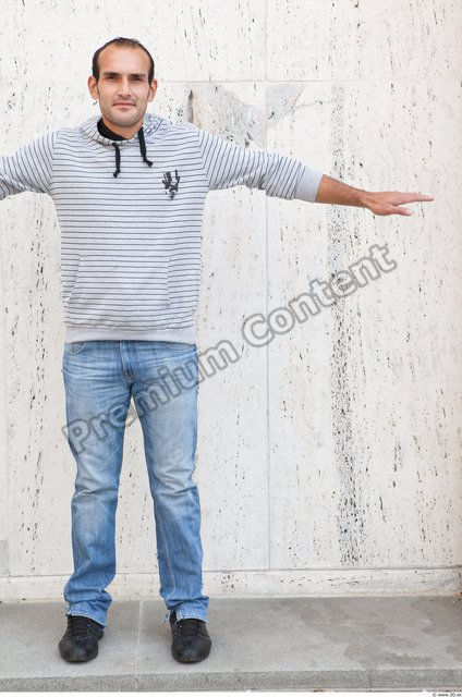 Whole Body Man T poses Casual Street photo references