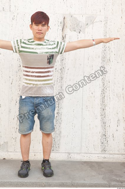 Whole Body T poses Asian Casual Street photo references