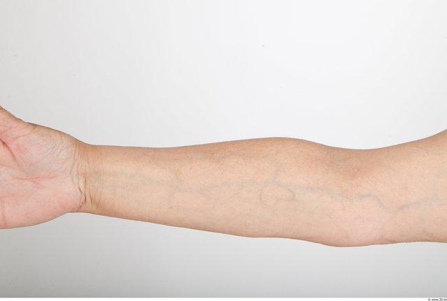 Forearm Woman White Nude Average Wrinkles