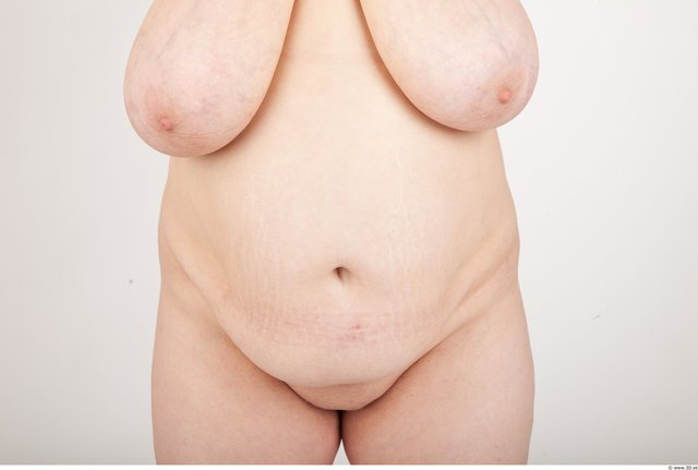 Belly Woman Nude Chubby Studio photo references