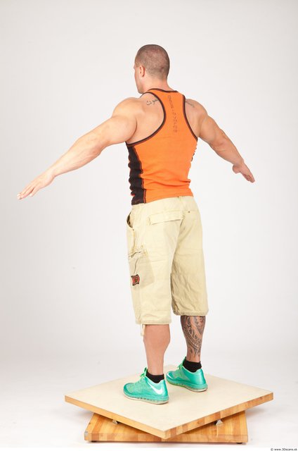 Whole Body Man White Muscular