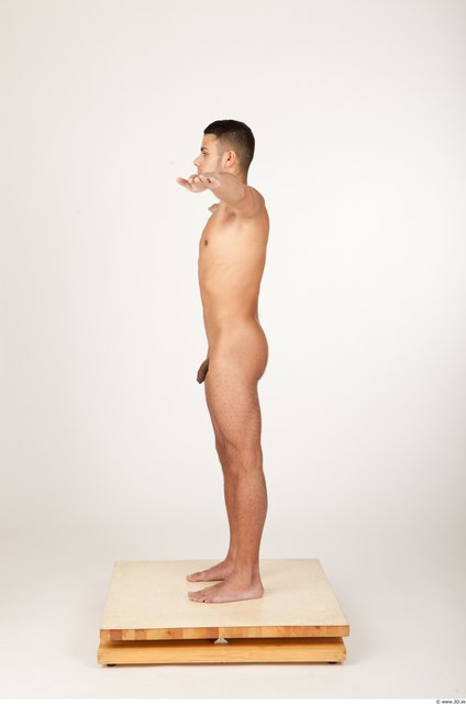 Whole Body Man Artistic poses T poses Nude Athletic Studio photo references