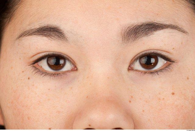 Eye Woman Asian Slim Studio photo references