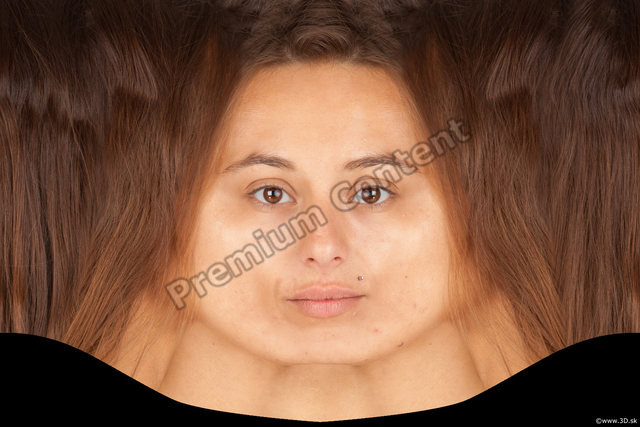 Head Woman White Average Head textures