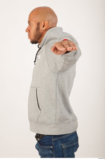 Upper Body Man Animation references Casual Sweater Bald Studio photo references