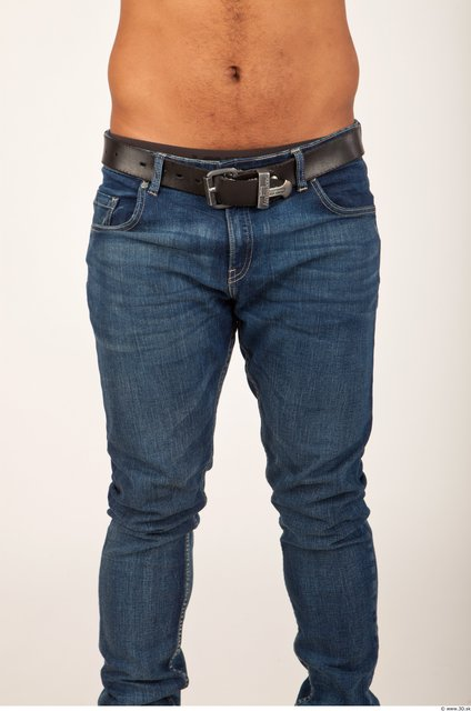 Thigh Man Casual Jeans Studio photo references