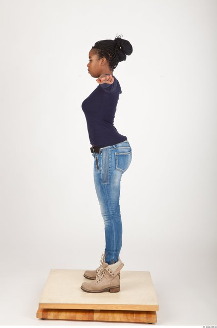 Upper Body Woman Animation references T poses Casual Average Studio photo references