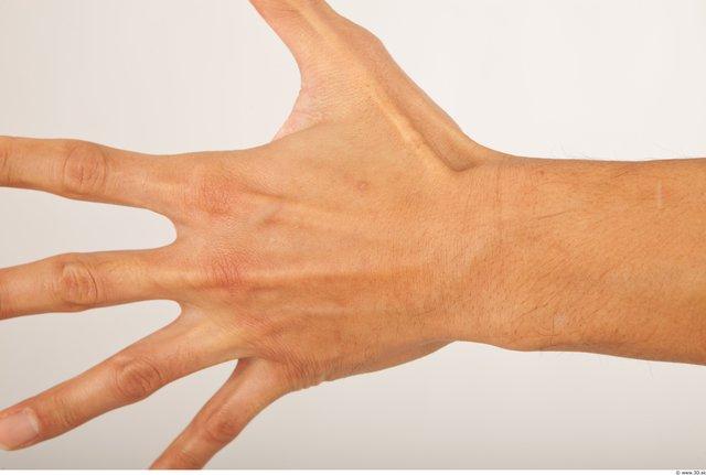 Hand Man Asian Average Palm Studio photo references