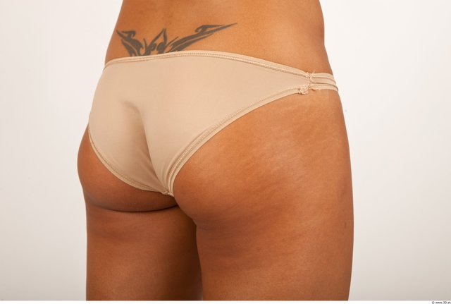 Bottom Woman Black Tattoo Underwear Panties