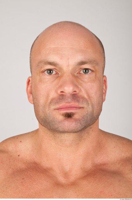 Head Man White Muscular