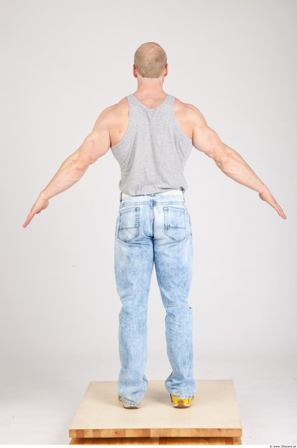 Whole Body Man White Casual Muscular